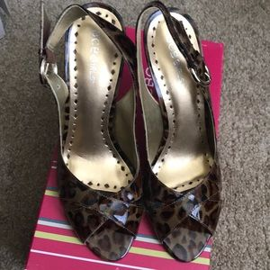 Patent Leather leopard print heels